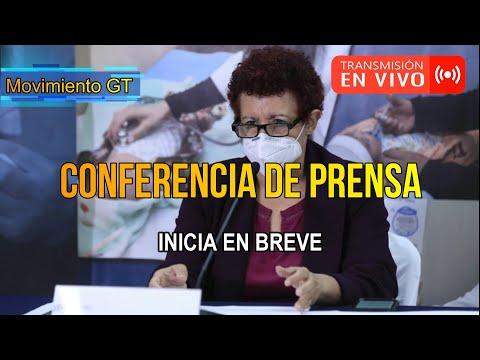 EN VIVO  | Conferencia de prensa autoridades del Ministerio de Salud Pública y Asistencia Social