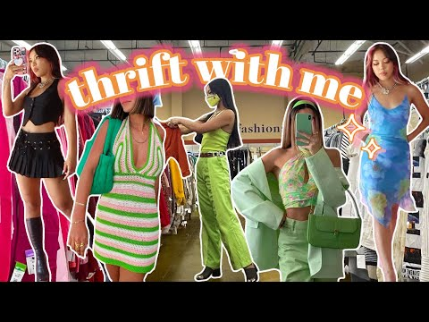 THRIFTING SUMMER TRENDS 2021   *come thrift w me + try-on haul*
