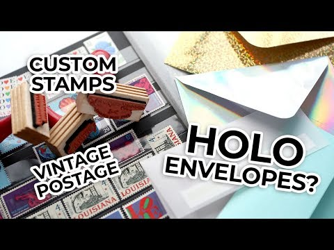 """5 CARD """"EXTRAS"""" I LOVE – My favorite custom stamps, postage, and envelopes"""