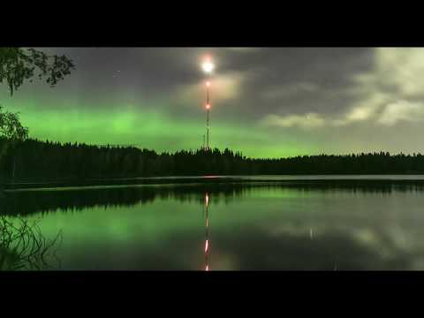Northern Lights at Mount Billingen, Skövde in Sweden