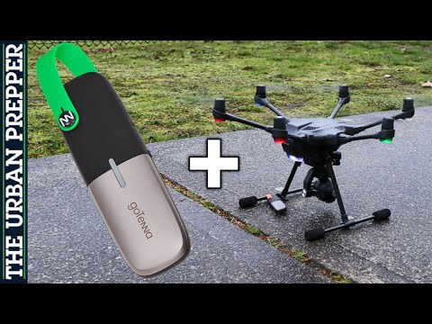 GoTenna Mesh range testing using a Drone as a Relay Node