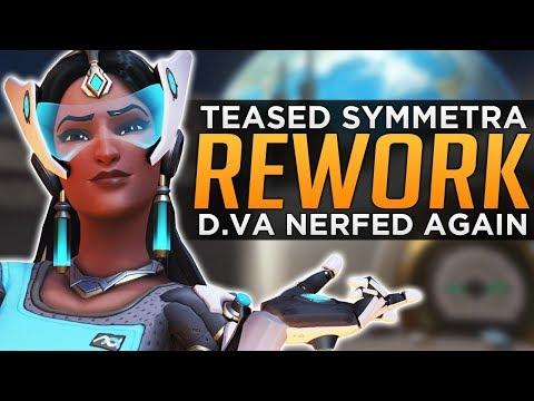 Overwatch: D.va NERFED AGAIN! - Symmetra Rework TEASED!