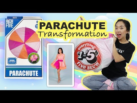 I Transformed A PARACHUTE into a Dress   Unconventional Challenge