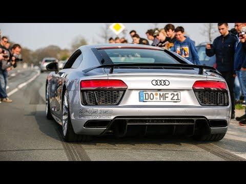 Audi R8 V10 Plus w/ ASG Exhaust - LOUD Accelerations & Revs !