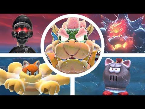 Bowser s Fury All Bosses & Cutscenes (Secret Boss Fights / Battle) [Super Mario 3D World]
