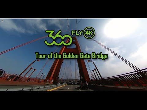 360fly 4k Drive over Golden Gate Bridge SanFrancisco California