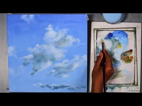 How to Paint Clouds in Acrylic