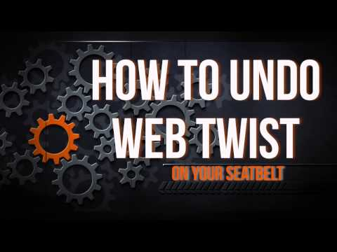 How to Fix an ALR Web Twist in your Seat Belt