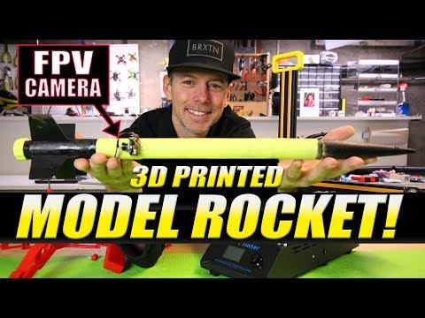 3D PRINTED MODEL ROCKET