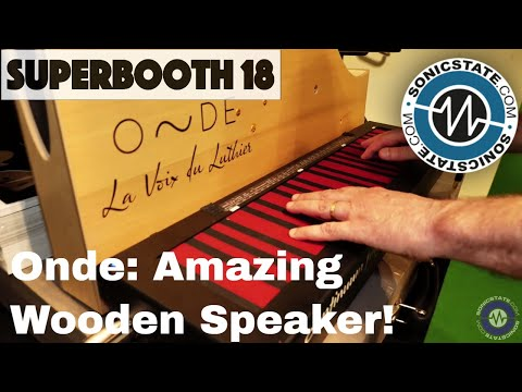 Superbooth 2018: Onde - a Gorgeous Wooden Speaker - Great For Instruments!