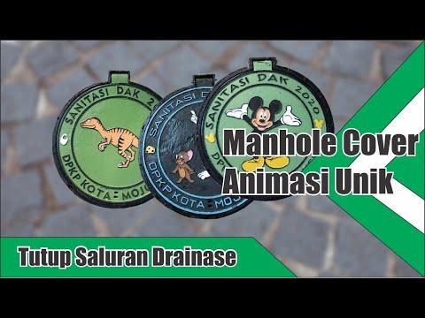 Manhole Cover Sanitasi | Desain Animasi Ikonik