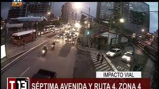 Impacto vial: Irresponsabilidad de conductor de bus del transporte público