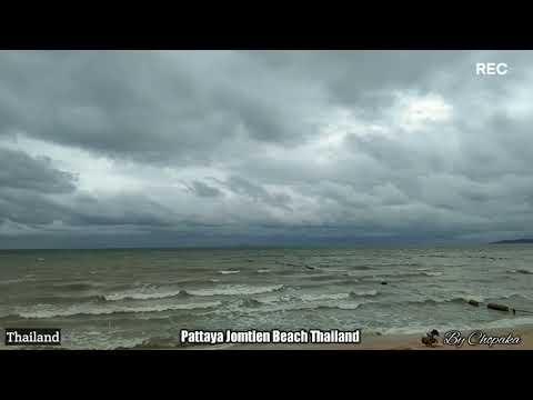มาอีกแล้วพายุหาดจอมเทียนลมแรงม