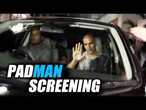 Padman Special Screening | Akshay Kumar, Dimple Kapadia, R Balki