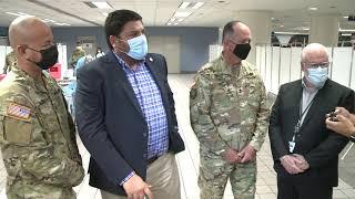 Inicia la operación del centro de vacunación en el Aeropuerto Luis Muñoz Marín