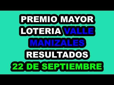 Resultados Lotería del VALLE y MANIZALES del Miércoles 22 de Septiembre de 2021 | PREMIO MAYOR