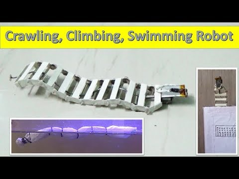 How to make a Crawing , Climbing and Swimmimg Robot