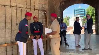Montaje del protocolo militar en el Altar de la Patria