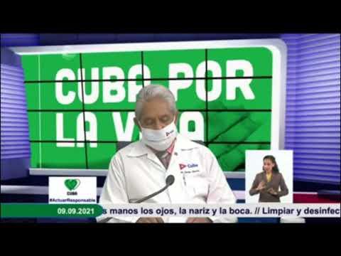 Conferencia de Prensa: Cuba frente a la Covid-19 (9 de septiembre de 2021)
