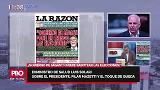 """¡NO SE CALLA NADA! Exministro de Salud Luis Solari: """"Sagasti debe cambiar a la ministra Mazzetti"""""""