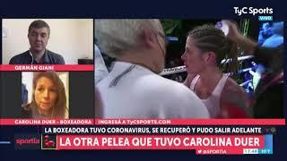 Carolina Duer tuvo coronavirus y reveló su experiencia