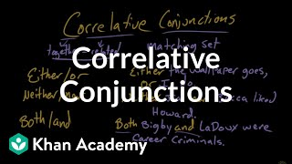 Correlative conjunctions | The Conjunction | The parts of speech | Grammar