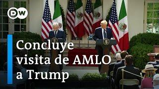 Concluye visita de AMLO a Trump