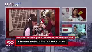PBO MUJER ELECCIONES 2021 Candidata APP Maritza del Carmen Sánchez