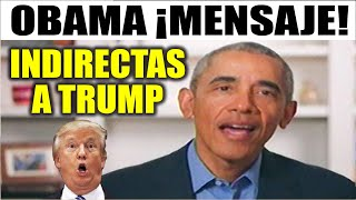 Ultimas noticias de EEUU, OBAMA INDIRECTAS A TRUMP 18/05/2020