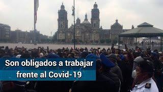 Policías capitalinos protestan en el Zócalo; exigen el pago de bonos atrasados