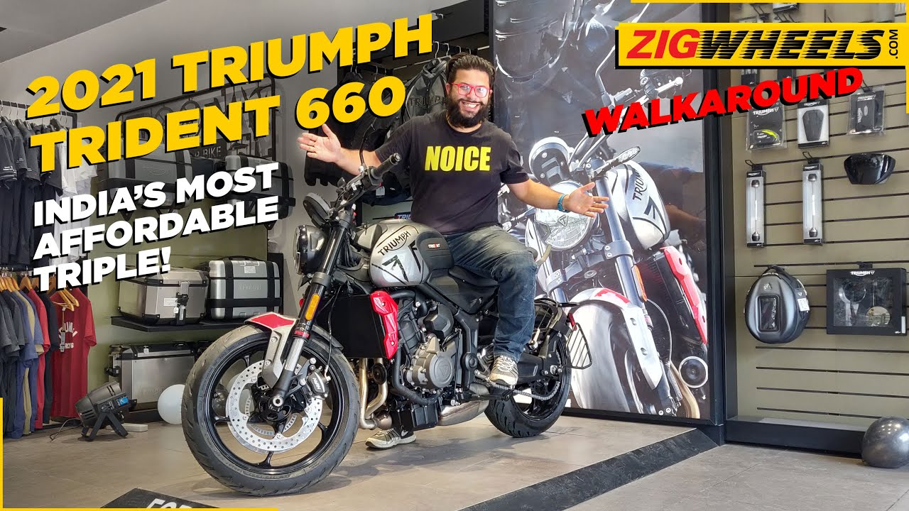 Triumph Trident 660 Walkaround Review + Exhaust Note | The Most Affordable Triple In India!