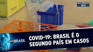 Brasil é o segundo país com mais casos de coronavírus no mundo   SBT Brasil (22/05/20)