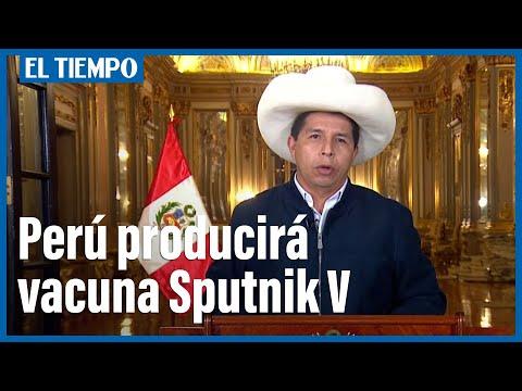 Castillo anuncia instalación de planta de producción de vacunas Sputnik V en Perú
