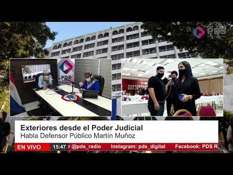 Exteriores desde el Poder Judcial- en comunicación con el Público Martín Muñoz