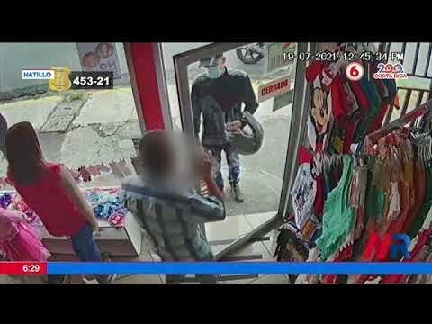 Hombre ataca locales en Hatillo centro