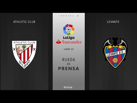 Rueda de prensa Athletic Club vs Levante