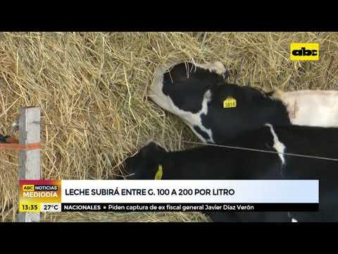 Precio de la leche subiría entre G. 100 a 200 por litro