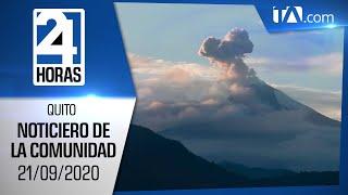 Noticias Ecuador: Noticiero 24 Horas, 21/09/2020 (De la Comunidad Primera Emisión)