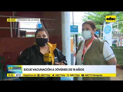 Sigue la vacunación a jóvenes de 19 años