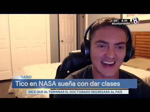 Joven tico llegó a la NASA y cuenta su historia