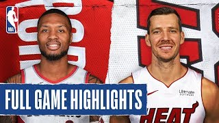 TRAIL BLAZERS at HEAT | FULL GAME HIGHLIGHTS | January 5, 2020