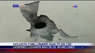 Millonario asalto en Capiatá