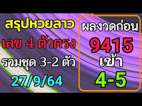 สรุปวิเคราะห์เลขหวยลาว-27/9/25