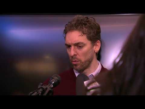 Pau Gasol Postgame Interview / Spurs vs Pacers / Jan 21