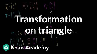 Matrix transformation on triangle