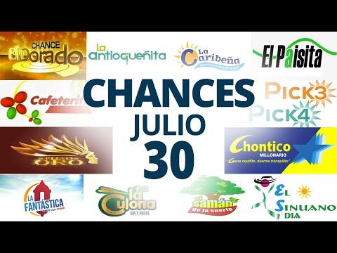 Resultados del Chance del Viernes 30 de Julio de 2021 | Loterias