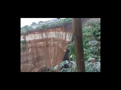 Impresionantes imágenes de los derrumbes en Ciudad Peronia