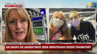 Un grupo de argentinos será repatriado desde frankfurt en Hoy Nos Toca a las Ocho