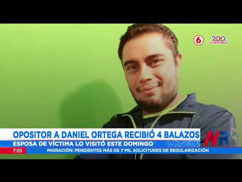 Opositor a Daniel Ortega recibió 4 balazos