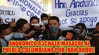ANDRONICO RODRIGUEZ SE PRONUNCI4  POR 4BUSO DEL PRESIDENTE DE COLOMBIA IVAN DUQUE CONTR4 EL PUEBLO